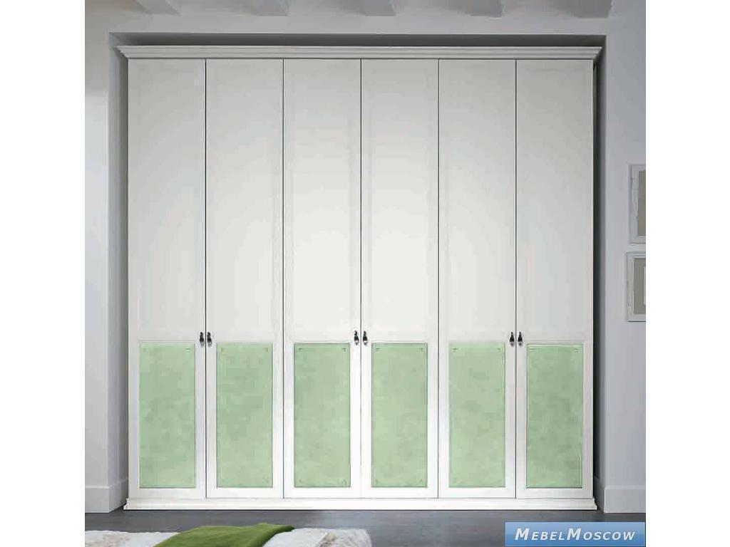 Colombini: шкаф 6-ти дверный(белый, зеленый) - мебель либерт.